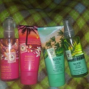 Bath and body lotions and body spray